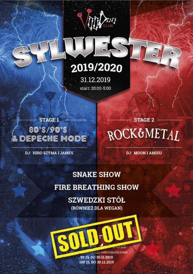 SOLD OUT! Sylwester 2019/2020 w VooDoo Club