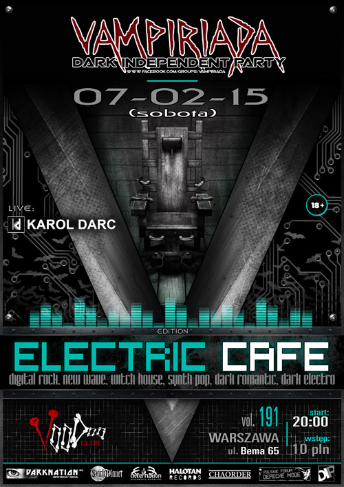 VAMPIRIADA – ELECTRIC CAFE edition + live: KAROL DARC