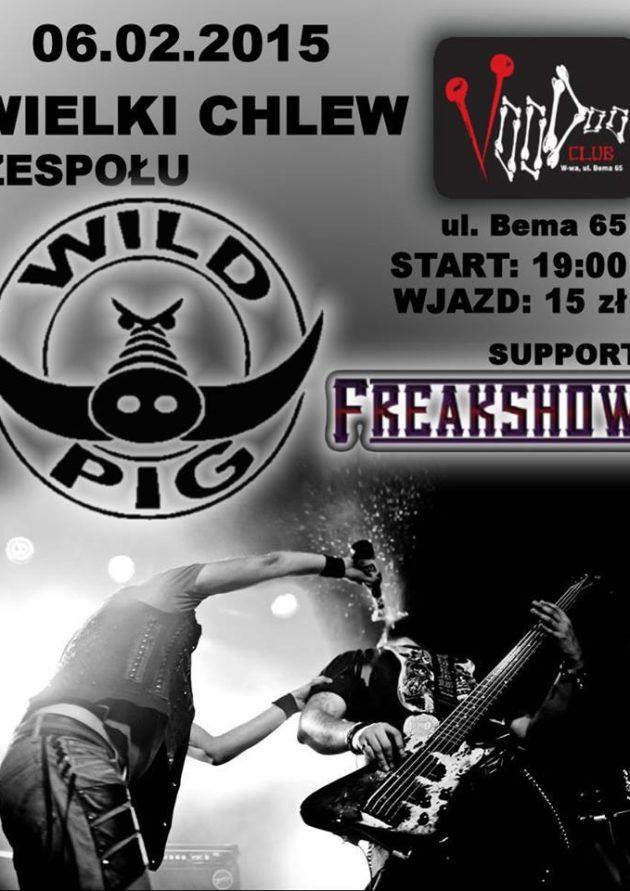 KONCERT WILD PIG + support Freakshow!
