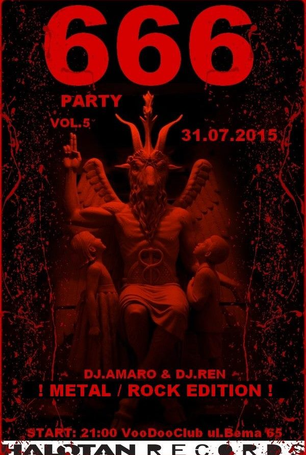 666 PARTY – Metal / Rock Edition