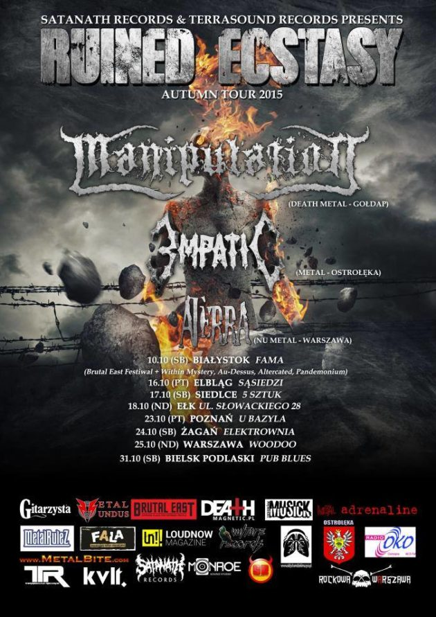 Manipulation, EmpatiC, Aterra + Warband – 'Ruined Ecstasy Tour 2015'