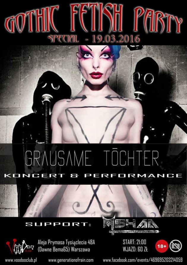 Gothic Fetish Party – Grausame Töchter koncert & performance