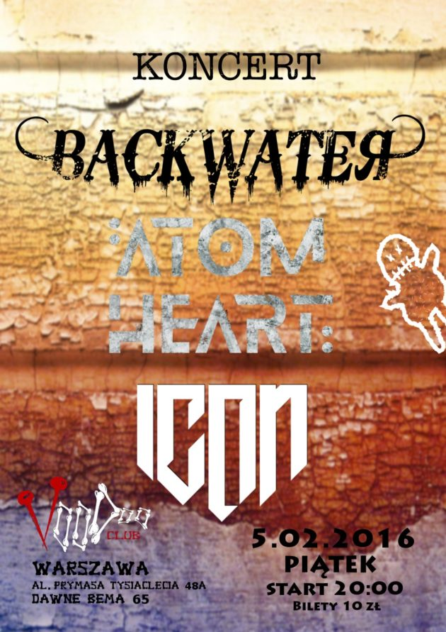 Koncert Backwater + Atom Heart + Icon