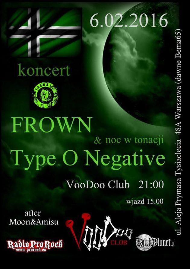 Koncert Frown + Noc w tonacji Type O Negative