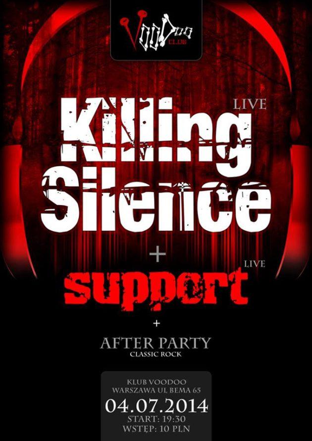 Koncert: KILLING SILENCE + SUPPORT
