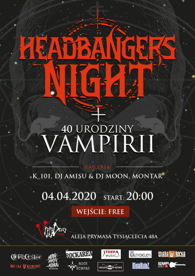 Headbanger's Night w VooDoo Club ( + 40 urodziny Vampirii )