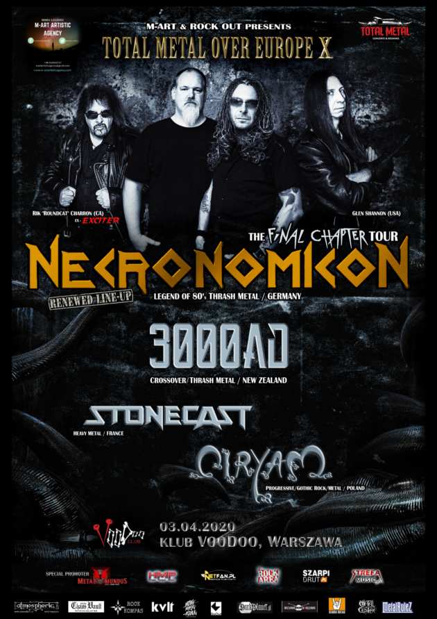 Necronomicon (GER) Total Metal Over Europa X + Ciryam [PL] , 3000ad [NZL], Stonecast [FR]