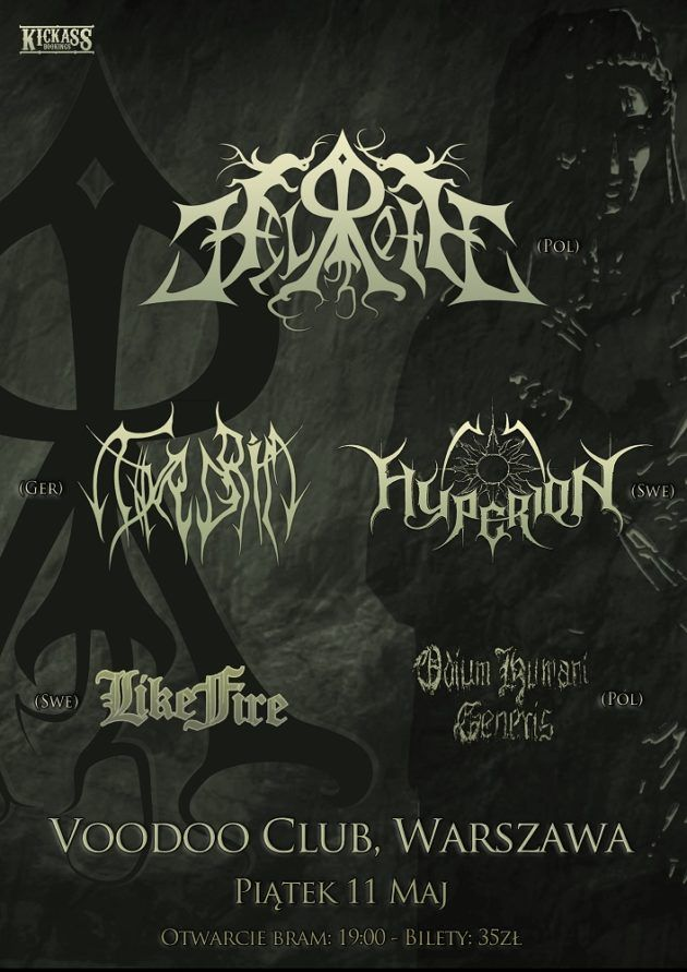Helroth / Hyperion / Thyrgrim / OHG / Like Fire – Live In Warsaw