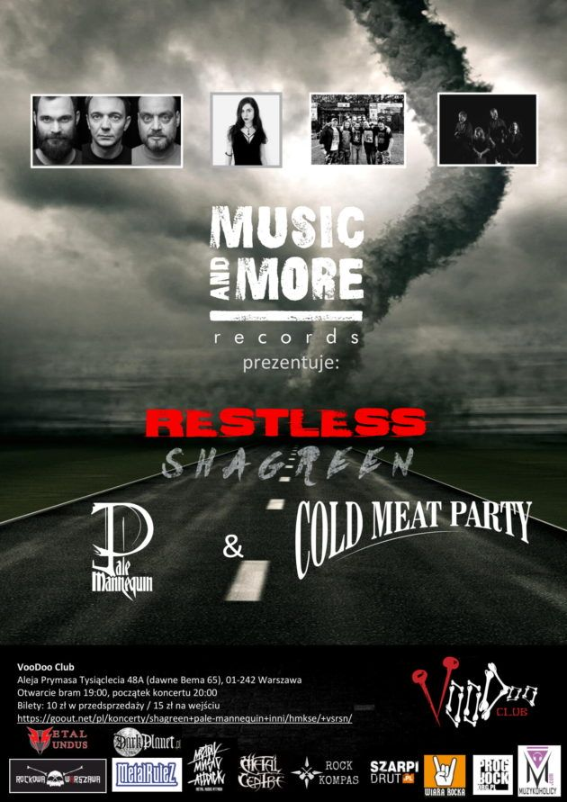 Music & More Presents:Shagreen x Pale Mannequin x Cold Meat Party x Restless