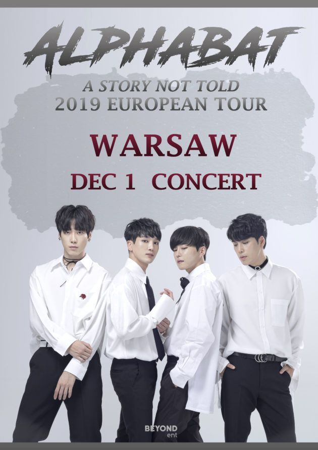 """Alphabat: 2019 European Tour """"A STORY NOT TOLD"""" in Warsaw"""