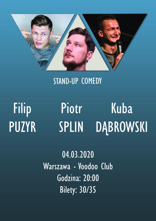 Stand-up: Puzyr / Splin / Dąbrowski (Warszawa)