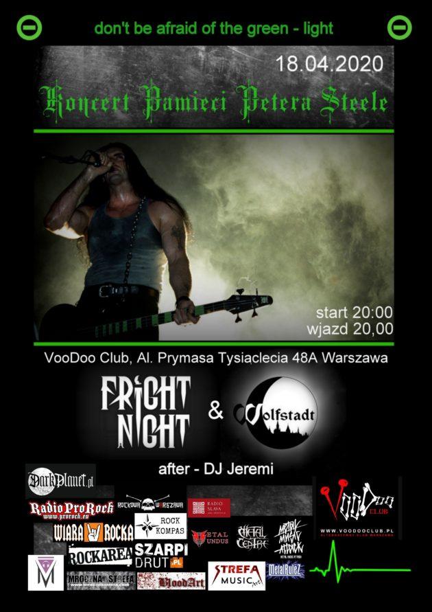 Koncert Pamięci Petera Steele'a – Wolfstadt x Fright Night