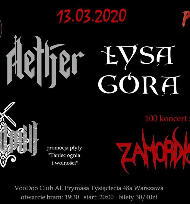 Folk Metal Night Piątek 13-go * Łysa Góra x Aether x Windmill (premiera płyty) x Zamordism