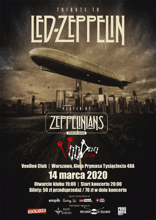 Zeppelinians – Tribute to Led Zeppelin / VooDoo Club – Warszawa