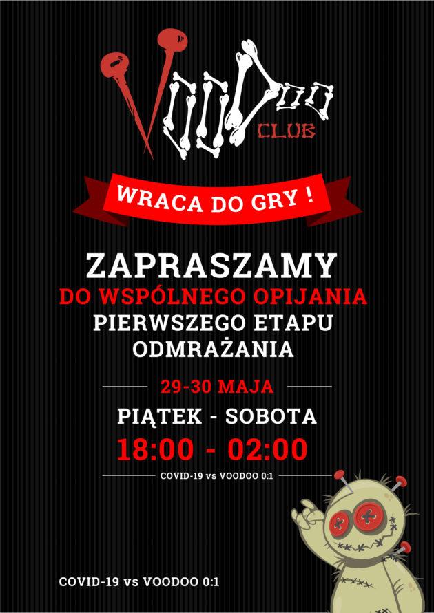 Piwny ogródek w VooDoo na czas walki z Covid-19 / 29-30.05 /