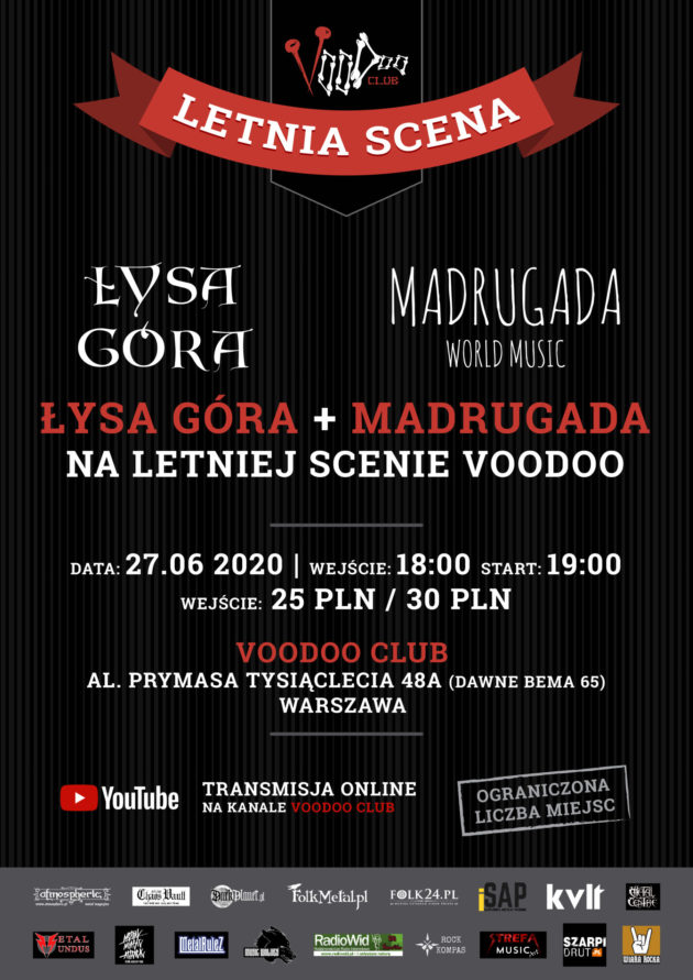 Łysa Góra & Madrugada World Music w VooDoo Club I 27.06 I