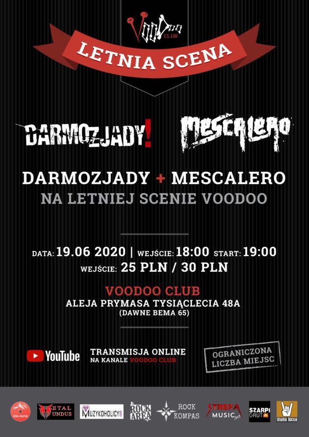 Darmozjady i Mescalero w Warszawie. Odmrażamy koncerty!
