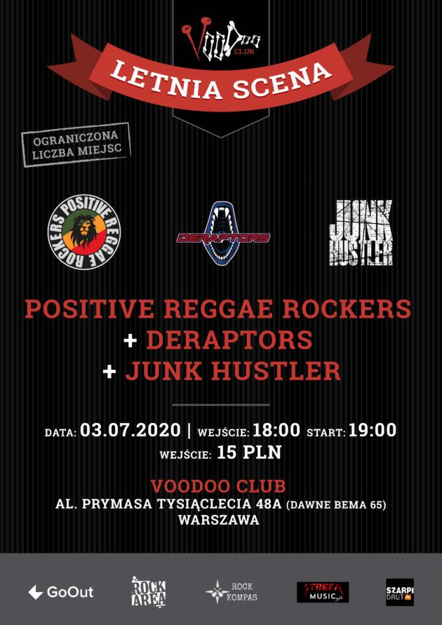 Positive Reggae Rockers x Deraptors na Letniej Scenie VooDoo