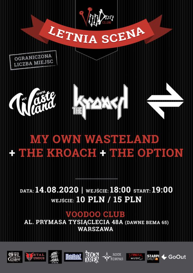 My Own Wasteland, The Kroach, The Option – Letnia Scena VooDoo