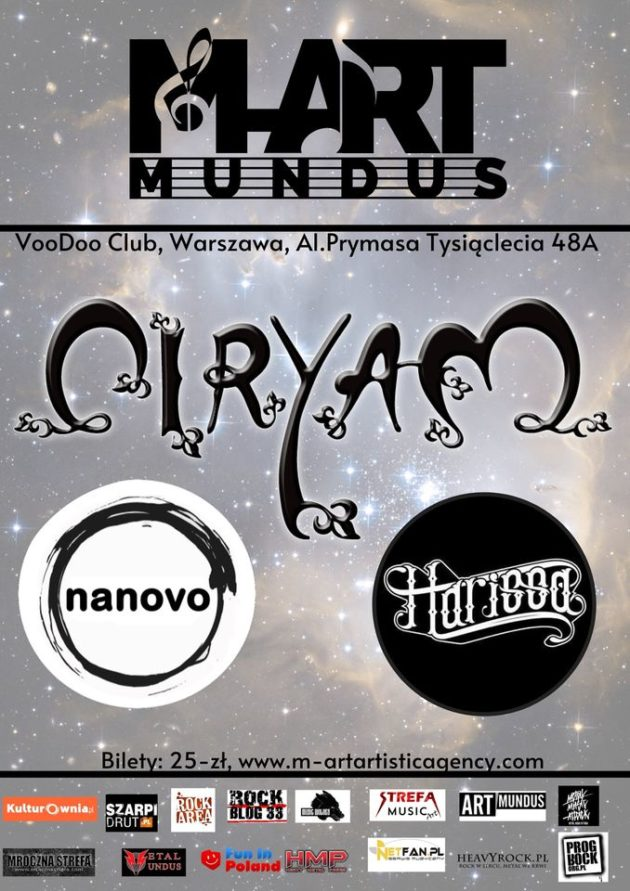 M-ART Mundus prezentuje : Ciryam x Harissa x Nanovo