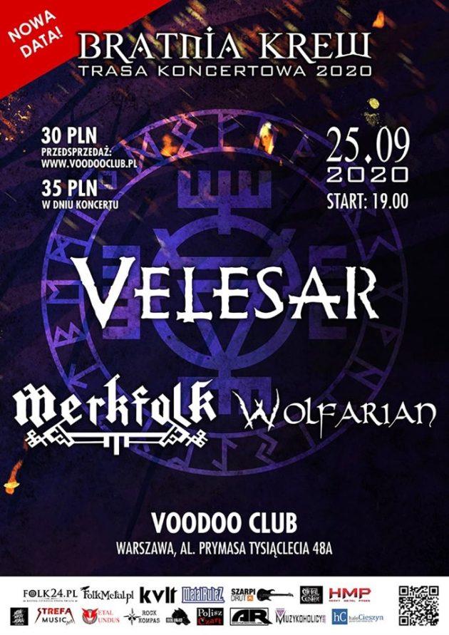 Bratnia Krew Tour '20: Velesar / Merkfolk / Wolfarian [CZ]
