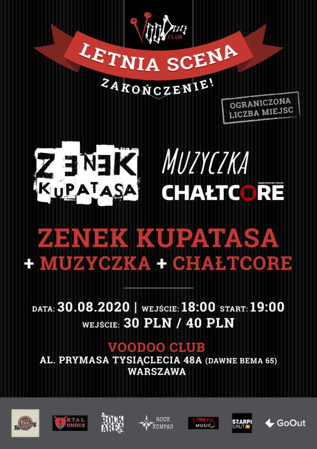 Zenek Kupatasa (+ Muzyczka & Chałtcore) na zakończenie Letniej Sceny VooDoo