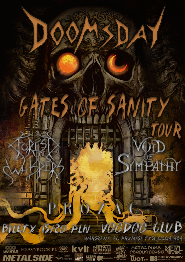 GATES OF SANITY TOUR Doomsday x Void Of Sympathy x Forest Whispers x Prozac