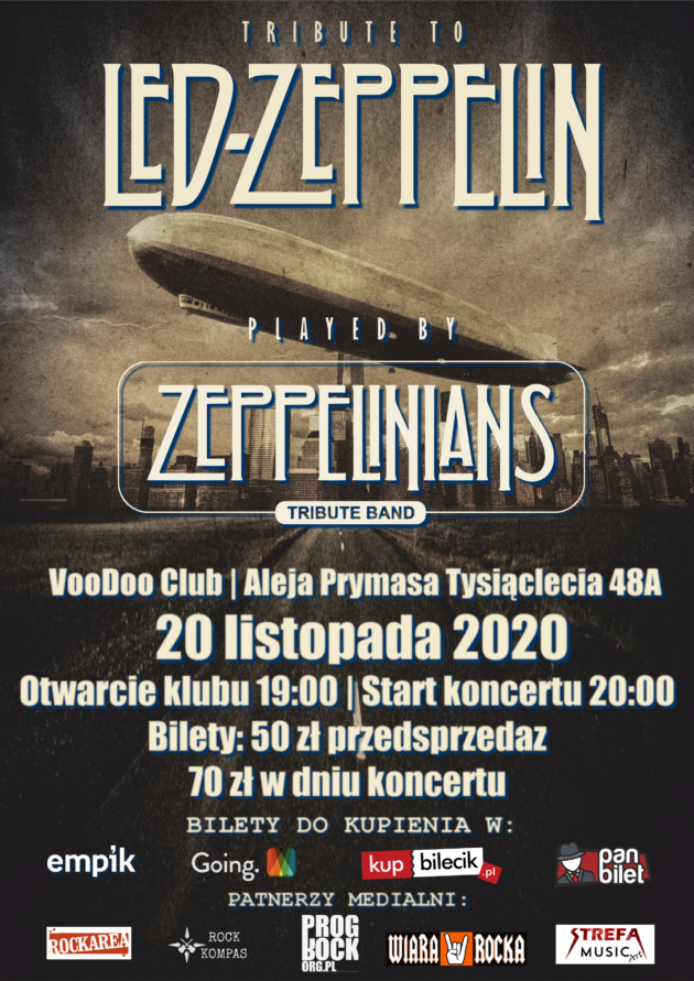 Tribute to Led Zeppelin – Zeppelinians – Tribute Band / 20.11 /