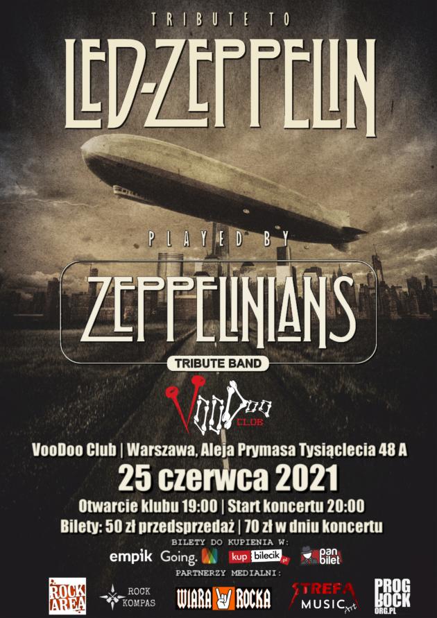 Tribute to Led Zeppelin – Zeppelinians – Tribute Band na Letniej Scenie VooDoo / 25.06 /