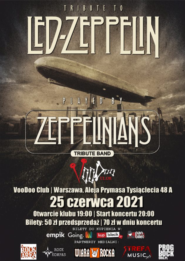 Tribute to Led Zeppelin – Zeppelinians – Tribute Band / 25.06 /