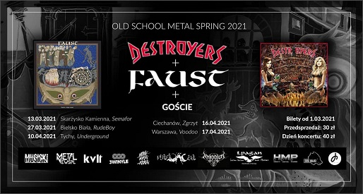 Trasa Destroyers/Faust ( + Painthing ) @VooDoo Club / WWA