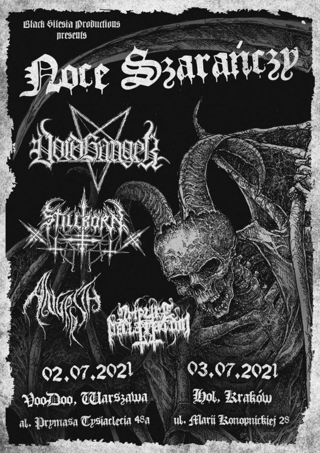 Noce Szarańczy: Voidhanger / Stillborn / Angrrsth / Impure Declaration  / 02.07 /