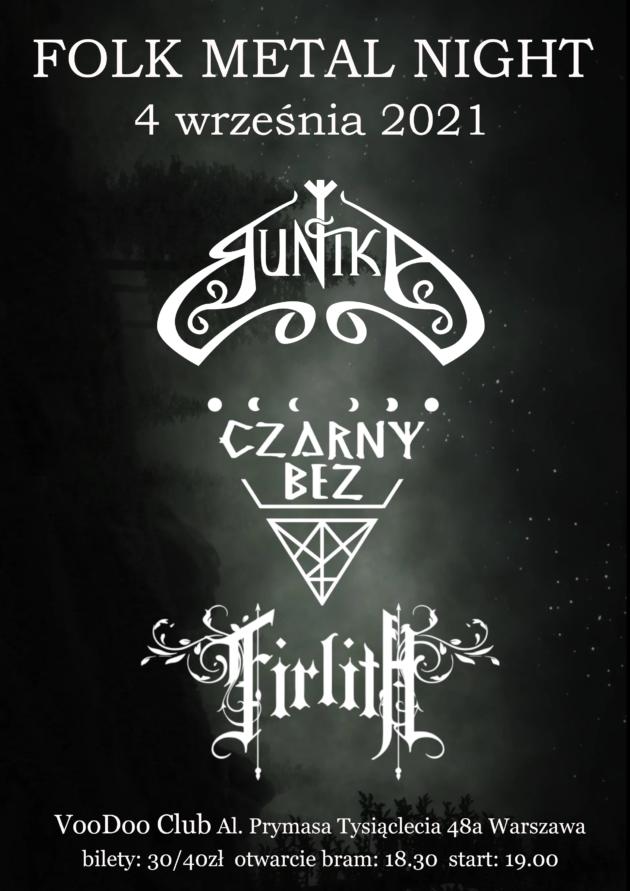 Folk Metal Night Warszawa – Firlith, Czarny Bez, Runika / 04.09 /