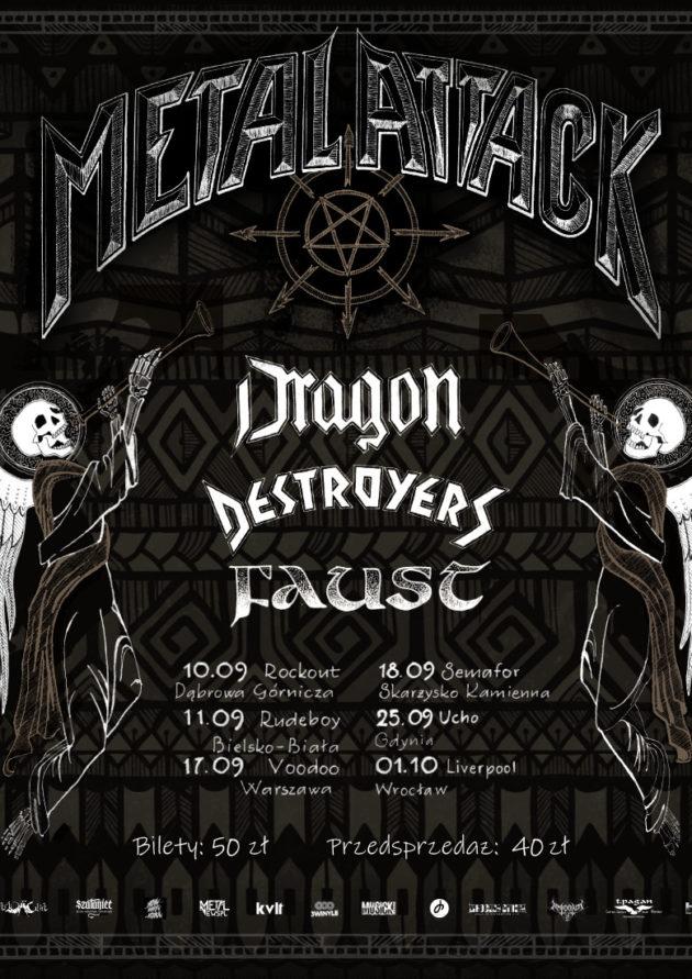 Metal Attack – koncert Dragon, Destroyers, Faust, Painthing / Warszawa /
