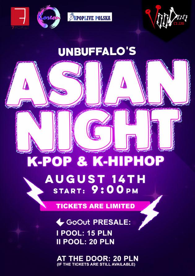 Asian Night by UNBUFFALO / K-POP K-HIPHOP / VooDoo Club / 14.08 /