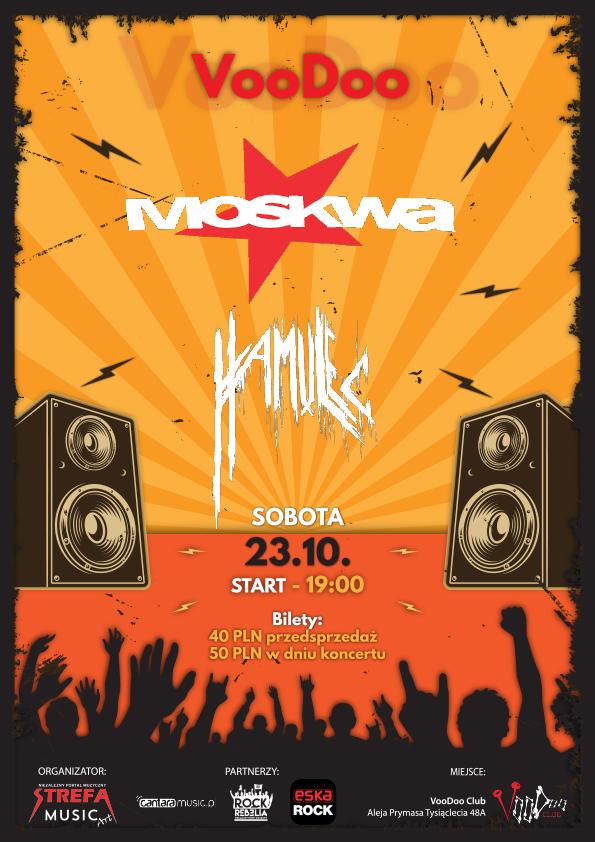 MOSKWA Punk Fest + Hamulec w VooDoo Club / 23.10 /