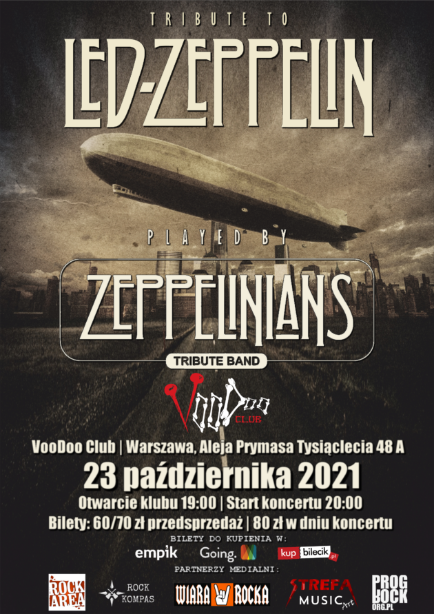 Tribute to Led Zeppelin – Zeppelinians – Tribute Band / 23.10 /
